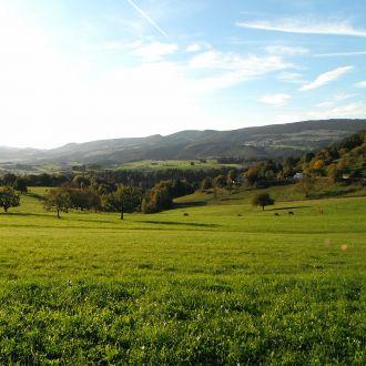 Blick über die Juralandschaft Richtung Blauen